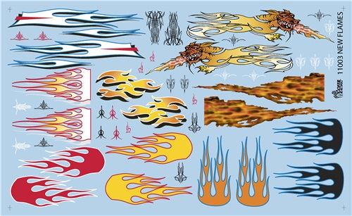 Racing Flames decals 1:25 from Gofer Racing Decals
