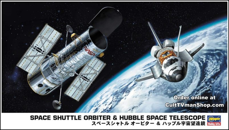 Shuttle and Hubble Telescope