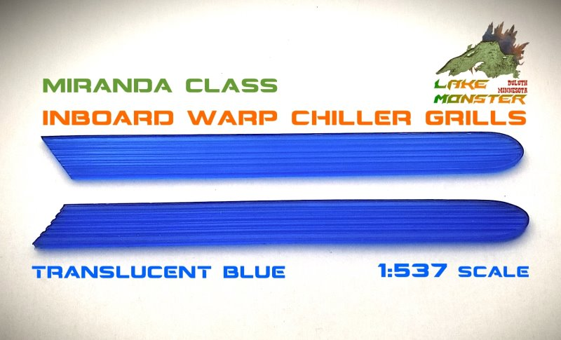 Reliant Warp Chiller Grills (blue) - 1:537  from Lake Monster Parts