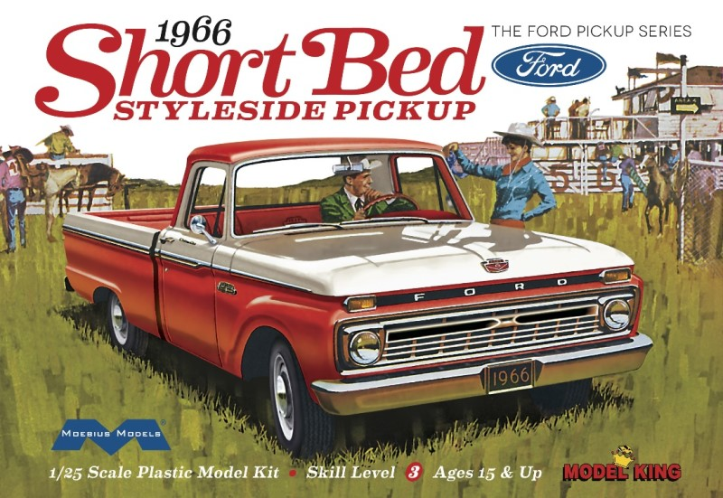 1966 Short Bed Ford Pickup from Model King/Moebius