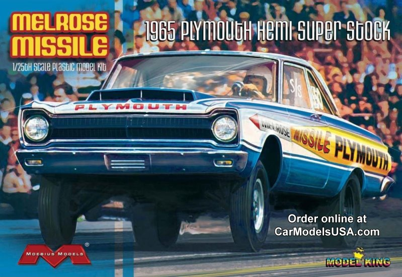 Melrose Missile '65 Plymouth Hemi Super Stock Drag Car- 1:25 from Model  King/Moebius