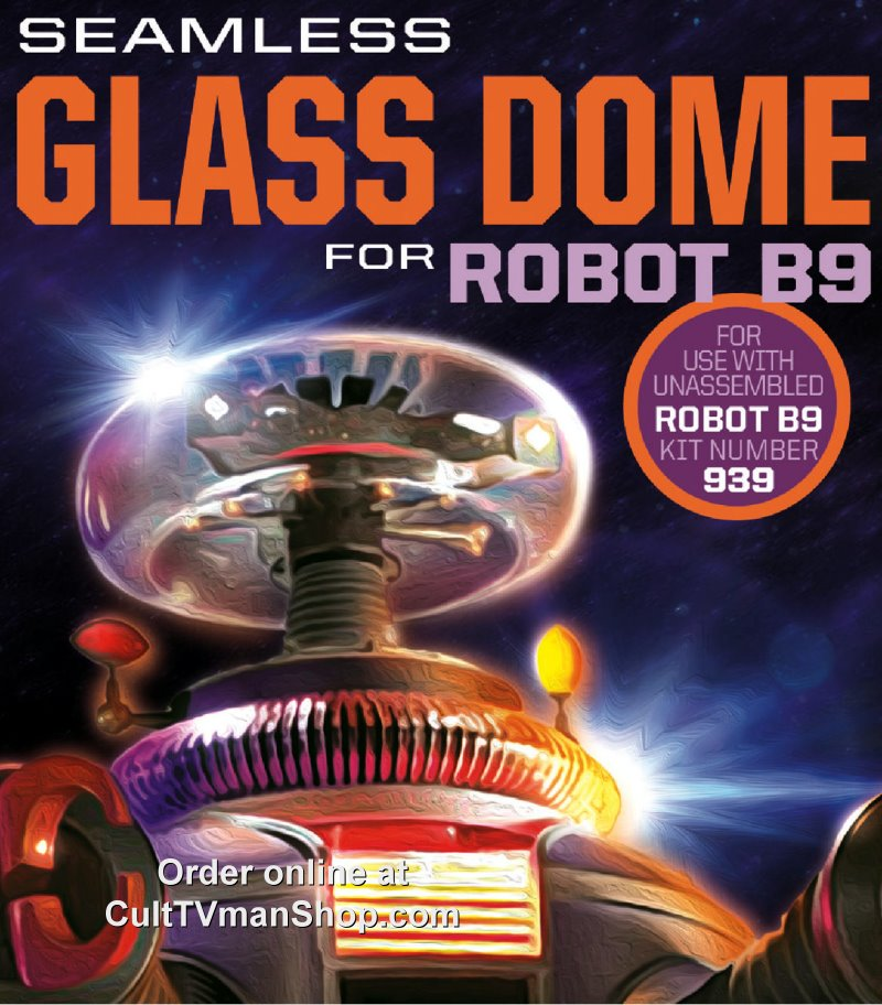 Lost in Space Robot Glass Dome only from Moebius Models