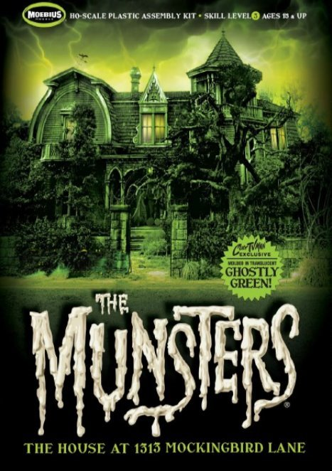 The Munsters House - CultTVman GHOSTLY GREEN edition from Moebius Models