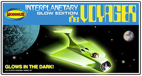 Glow In The Dark Voyager #2 from Moebius Models (blue box) - CultTVman Exclusive