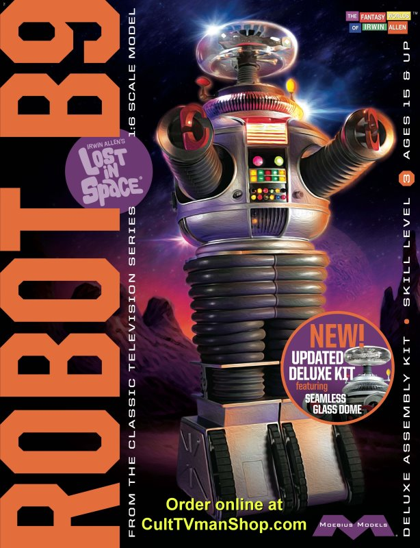 Lost in Space Robot DELUXE kit 1:6 scale with glass dome from Moebius Models