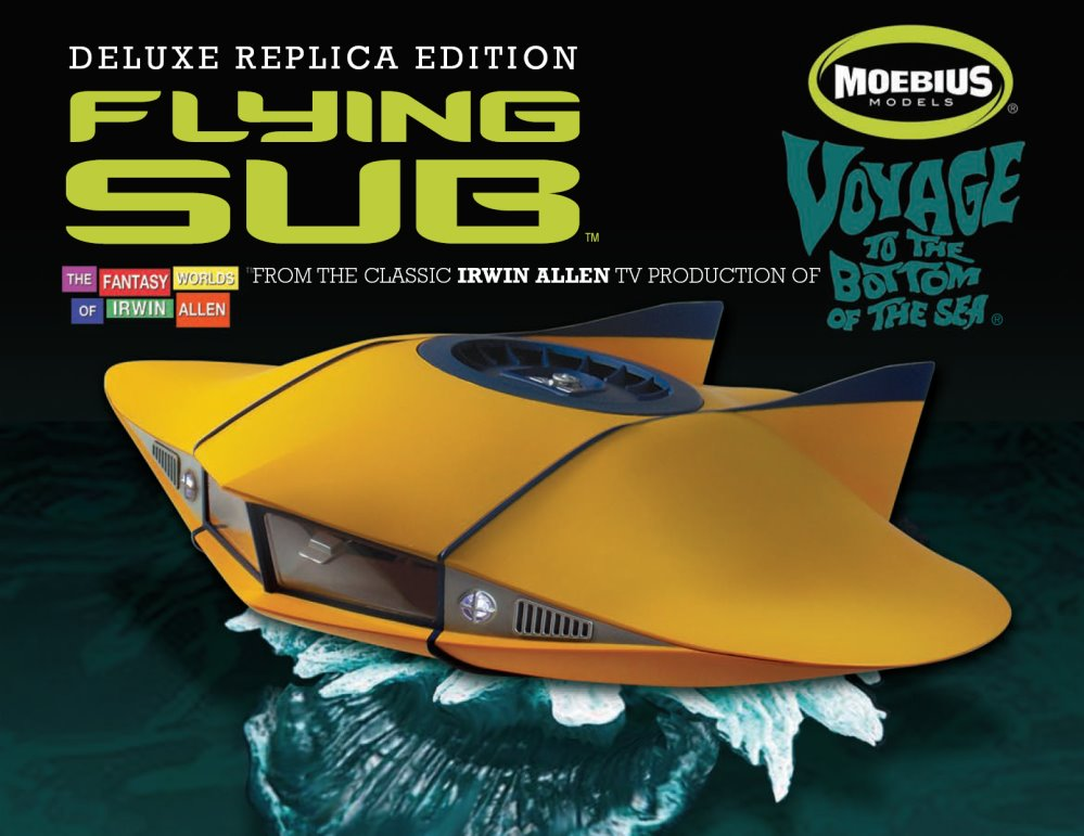 Deluxe  METAL Flying Sub finished diecast model 1:32 scale from Moebius Models