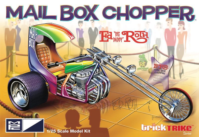 NEW: Ed Roth's Mail Box Clipper Trike 1:25 from MPC/Round 2
