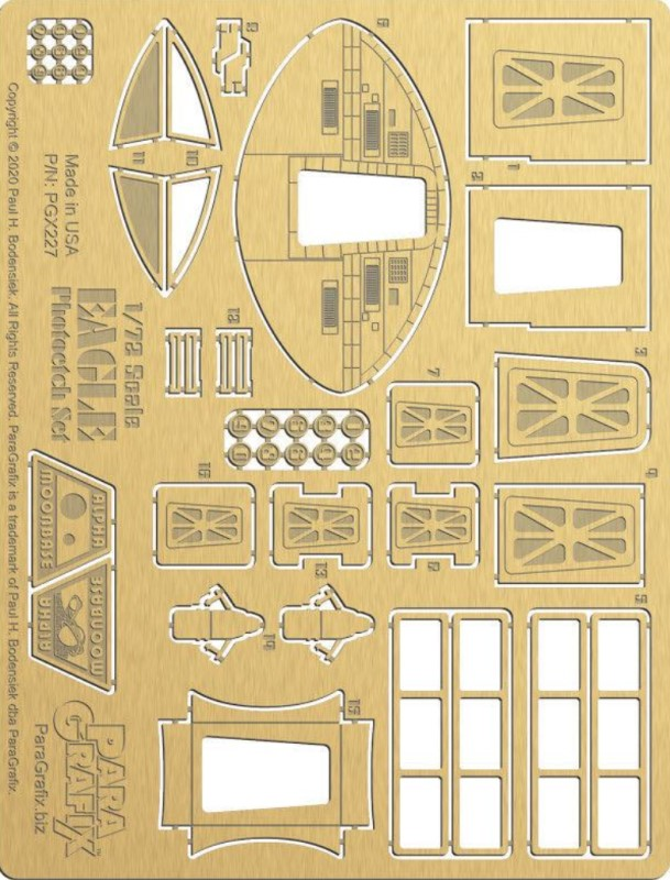 Eagle photoetch 1:72 detail set (for NEW MPC kit) from Paragrafix