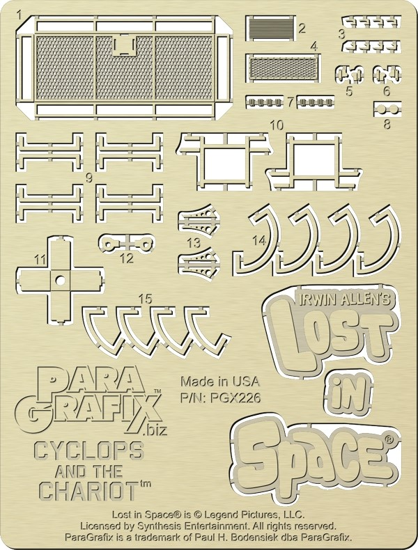 Chariot photoetch (for Cyclops Chariot kit) from Paragrafix - EARLYBIRD PRICE