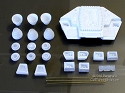 Moonbus Rockets and Thrusters resin parts from Paragrafix