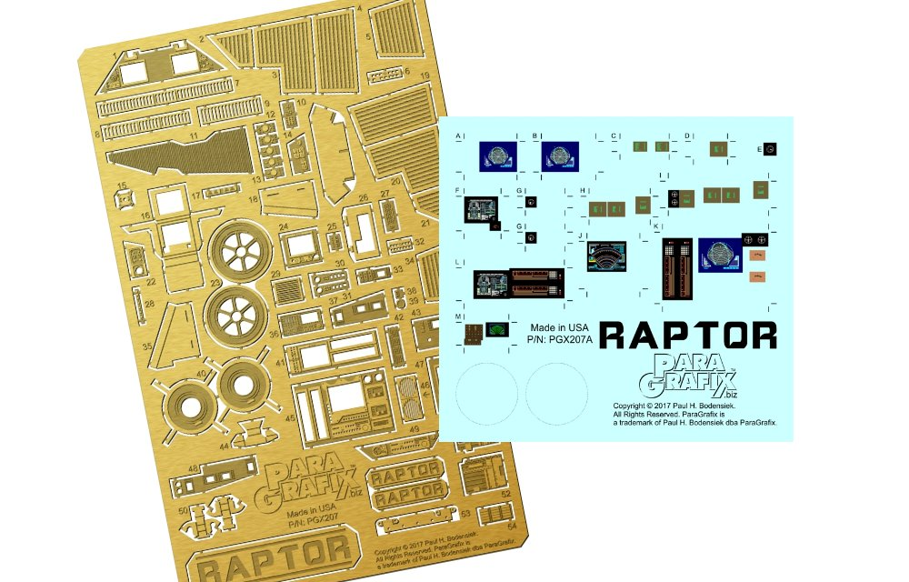 Raptor detail set 1:32 from Paragrafix