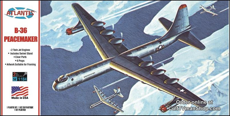 B-36 Peacemaker with Swivel Stand 1:184 - Revell reissue from Atlantis