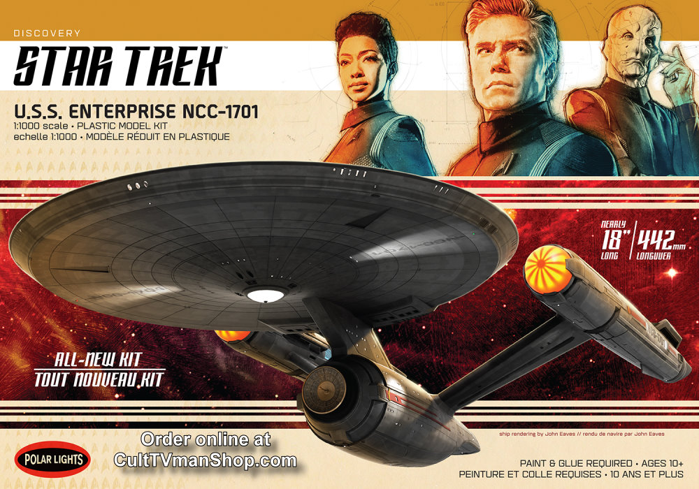 NEW:  U.S.S. Enterprise from Star Trek Discovery 1:1000 scale from Round 2/Polar Lights