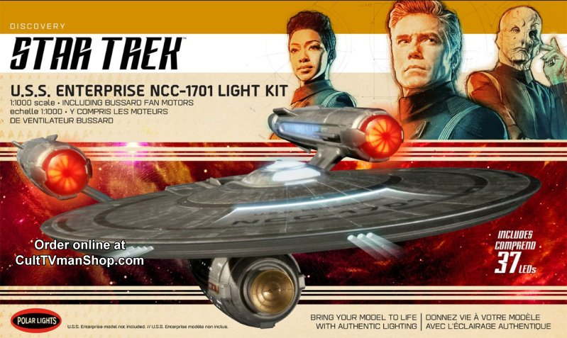 NEW:  U.S.S. Enterprise (from Discovery)  LIGHT KIT - 1:1000 scale from Round 2/Polar Lights