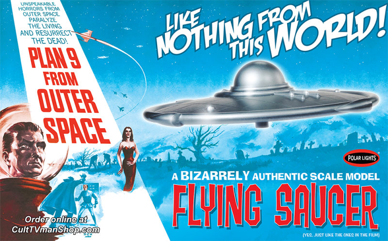 Plan 9 from Outer Space Flying Saucer kit from Polar Lights