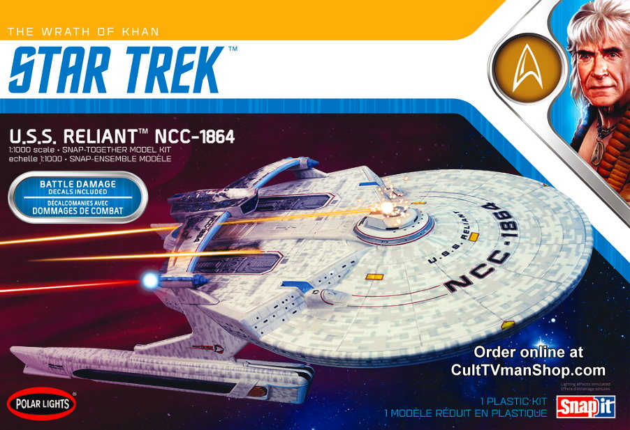 U.S.S. Reliant  Wrath of Khan Edition (2020 edition) 1:1000 scale from Round 2/Polar Lights