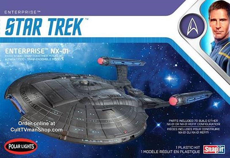 Enterprise NX-01 1:1000 scale from Round 2/Polar Lights (2019 reissue)