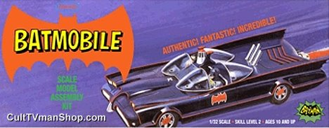 Aurora Batmobile (purple box) reissue 1:32 scale from Polar Lights/Round 2