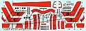 Space Fighter Mk II red stripes decals from JTGraphics