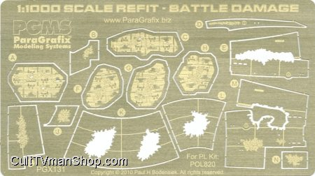 Refit 1:1000 Battle Damage photoetch detail set from Paragrafix