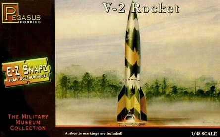 V-2 Rocket 1:48 scale snap kit from Pegasus