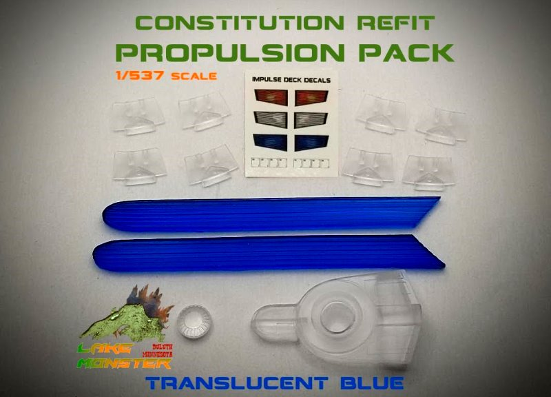 Refit Propulsion Pack (blue) - 1:537 Constitution Class from Lake Monster