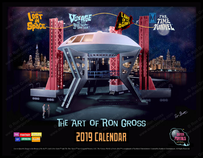 The Art of Ron Gross - 2019 Calendar - Lost in Space, Voyage to the Bottom of the Sea and more!