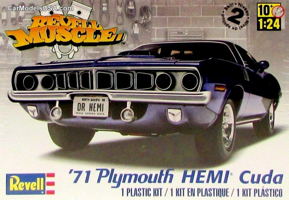 1971 Plymouth HEMI Cuda 1:24 from Revell