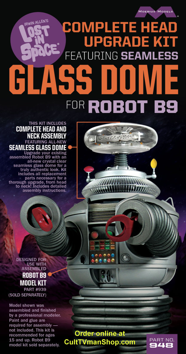 Lost in Space Robot COMPLETE GLASS DOME kit from Moebius Models