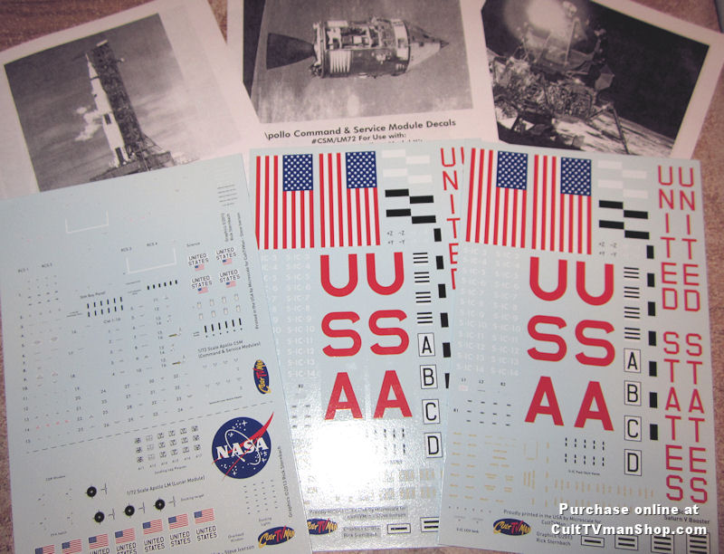 saturn v 1 72 scale decals from culttvman  space model systems