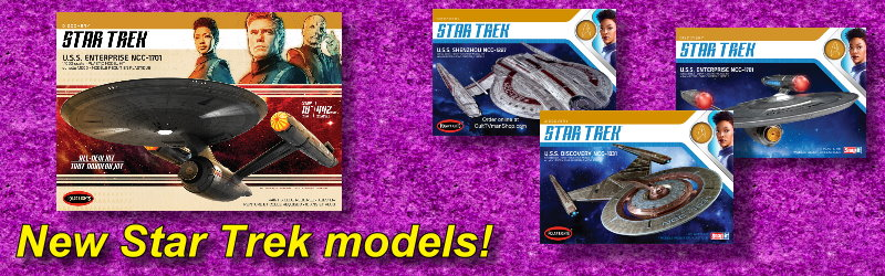 new Star Trek model kits