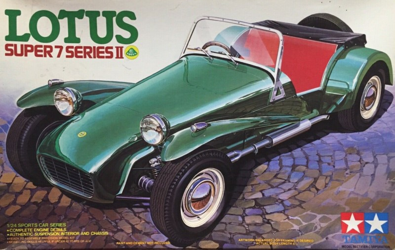 Lotus Super 7 Series II (as seen in The Prisoner) 1:24 scale from Tamiya
