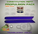 Refit Propulsion Pack (violet) - 1:537 Constitution Class from Lake Monster Models