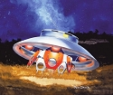 Invaders Flying Saucer - Aurora reissue from Atlantis - $25.99 -  PREORDER RESERVATION