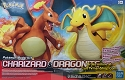 Charizard & Dragonite - Pokemon model collection from Bandai