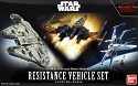 The Last Jedi Resistance mini-kit set 1:144 and 1:350 from Bandai