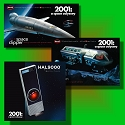 Gift Set - 2001: A Space Odyssey - three kits - Space Clipper, Moonbus, and HAL9000