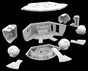 Discovery Pod Bay detail parts 1:350 from Pagargrafix