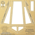 DeAgostini X-Fighter Window frames detail set from Paragrafix