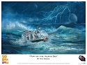 Fury of the Inland Sea - Lost in Space Art Print by Ron Gross