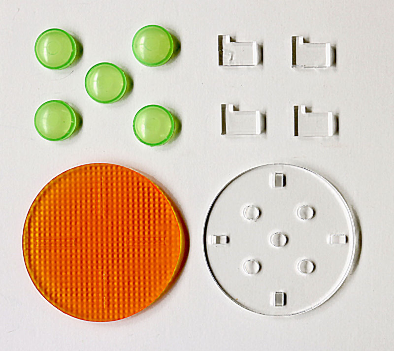 Invaders Saucer resin lighting parts from Yay Monsters