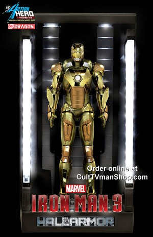 Iron Man Mark XXI Midas Armor - Hall of Fame with lighting - 1:9 scale prepainted kit from Dragon
