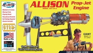 Allison Turbo Prop Engine 1:10 - Revell reissue from Atlantis