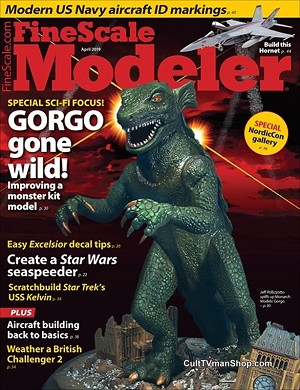 Fine Scale Modeler April 2019 - Gorgo, Star Trek, Star Wars
