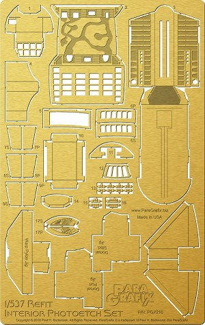 Refit Starship interiors 1:537 from Paragrafix