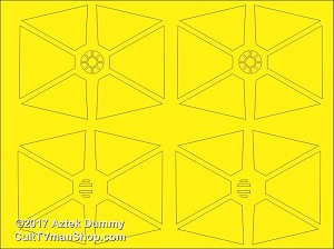 TIE Fighter 1:72  paint masks from Aztek Dummy