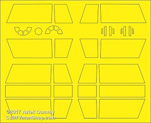 TIE Fighter X-1 1:72  paint masks from Aztek Dummy