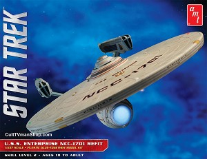 Refit Enterprise 1:537 scale reissue from AMT/Round 2