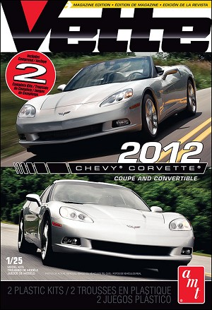 2012 Chevy Corvette Coupe & Convertible (2 kit set) 1:25 from AMT/Round 2