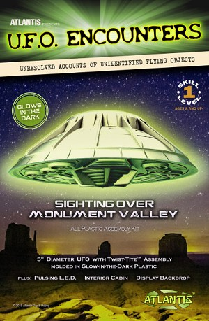 Monument Valley UFO from Atlantis - GLOW EDITION
